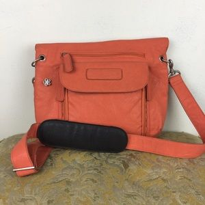 Kelly Moore Orange Leather Magnetic Camera Bag